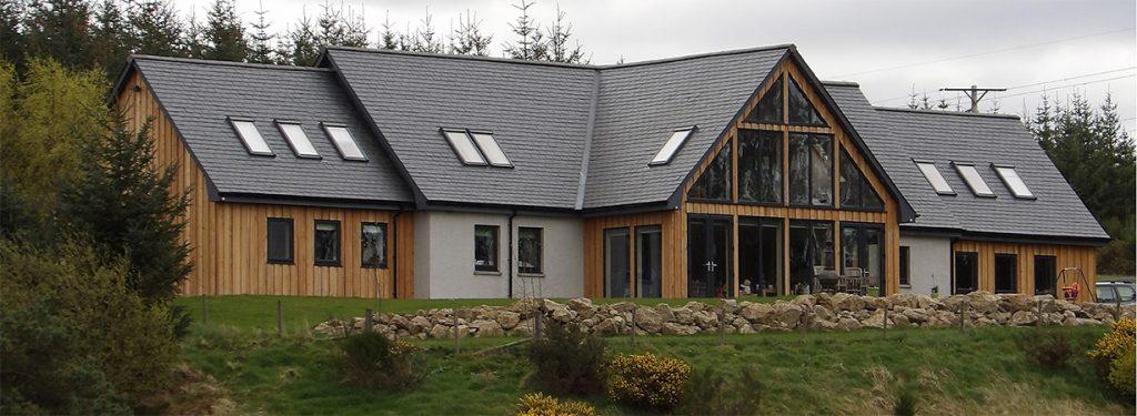 ACJ Group - house built with glazed gable windows
