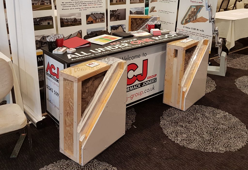 ACJ Group Stand Highland Home Show with wall samples