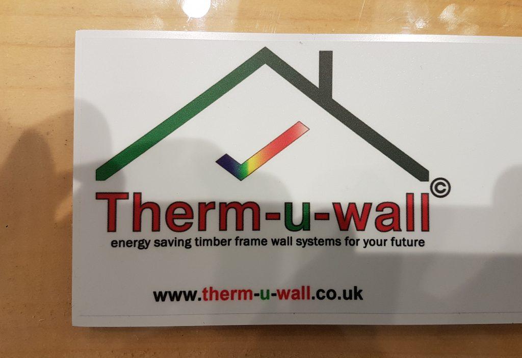 Therm-u-wall logo on panel