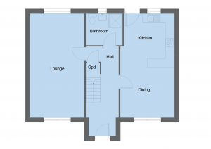 Blair house type ground floor plan - 4 bedroom 2 Storey Range - 134m2 floor area