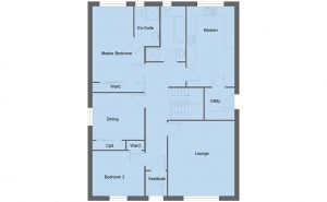 Fraser house type ground floor plan - 4 bedroom 1 ½ Storey Range - 190m2 floor area