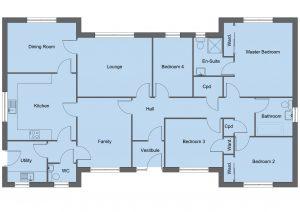 Stewart house type floor plan - 4 bedroom bungalow - 151m2 floor area