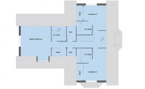 Lennox house type first floor plan - 5 bedroom 1 ½ Storey Range - 246m2 floor area