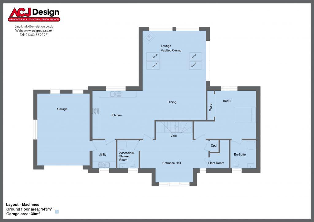 MacInnes Ground Floor Plan With Border