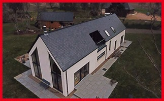 Drone photo of house build