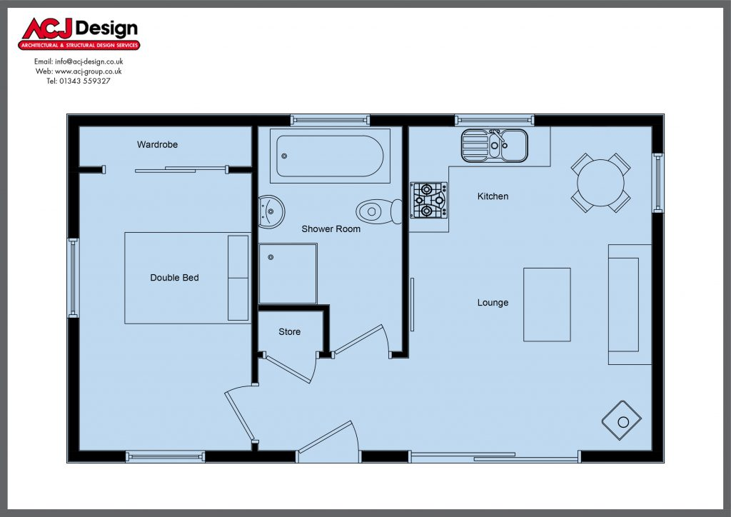 Cabins & Lodges - The Falcon Floor Plan