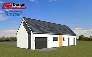 ACJ Group 3D House Render - Lewis - 158m2 - Image 1