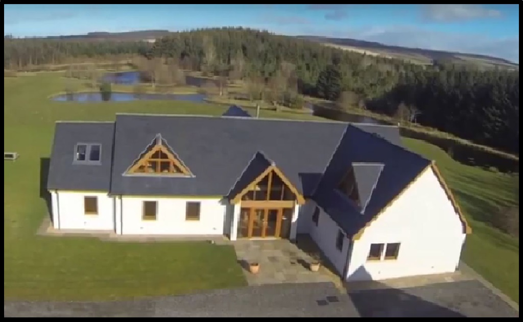 Image of a house, drone view