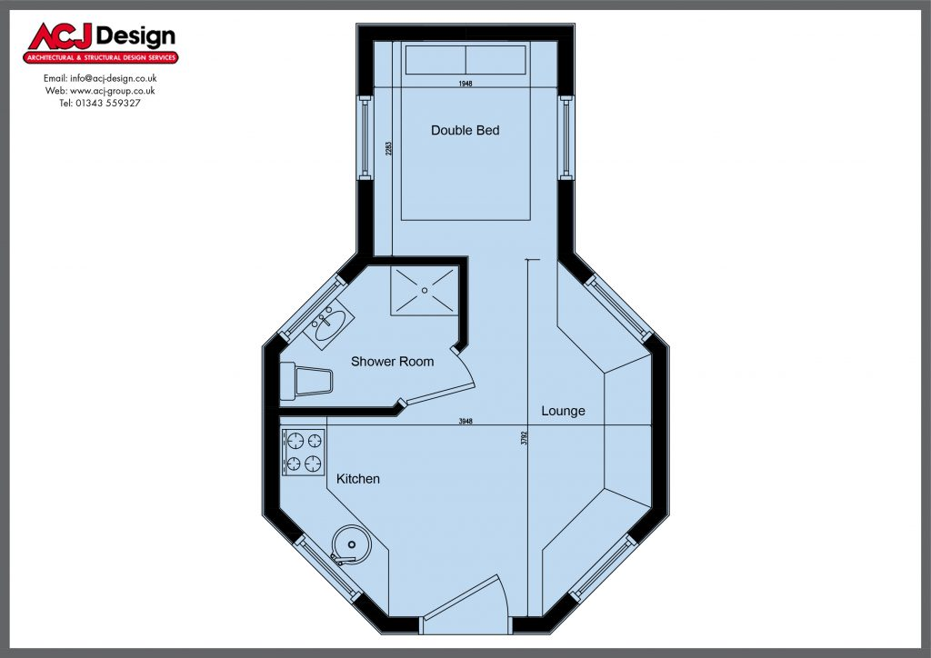 Glamping Pods - The Maree - Layout