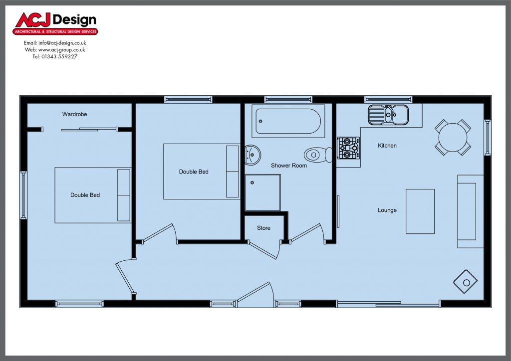 cabins & lodges - the osprey floor plan