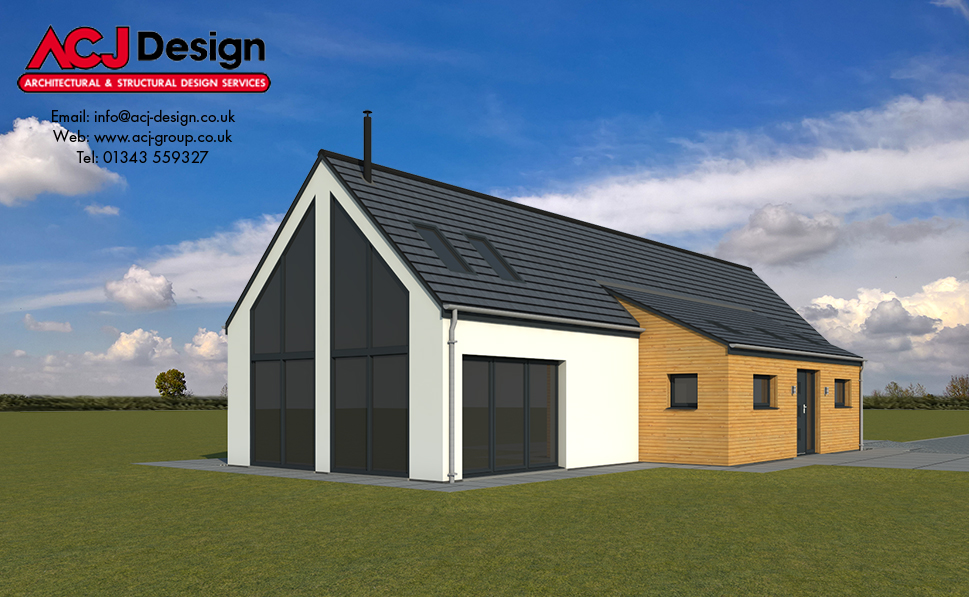 Barra - 3D Render Side Elevation