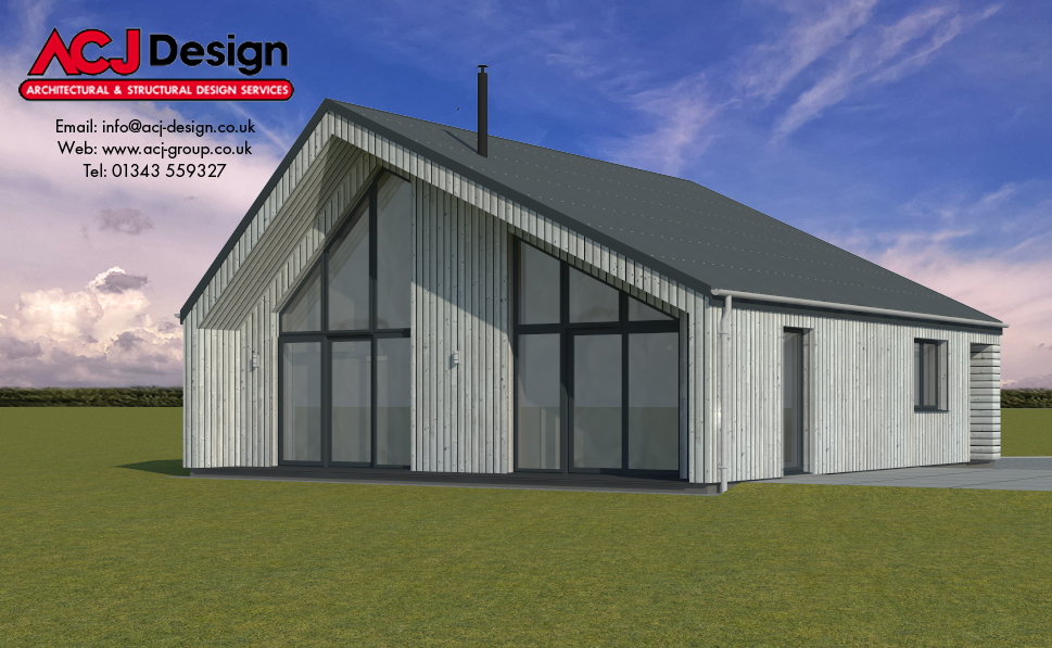 108m2 - Stronsay Rear Elevation