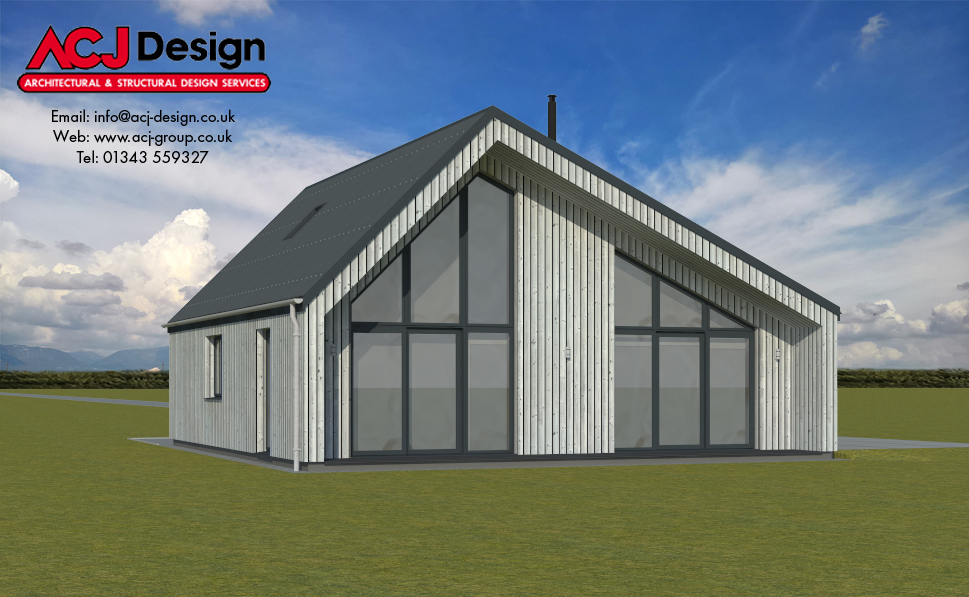 108m2 - Stronsay Side Elevation
