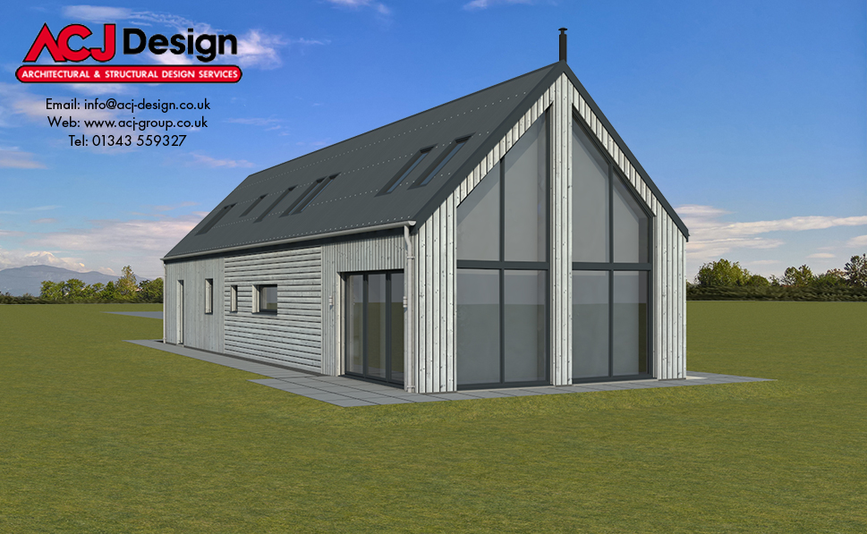 188m2 - Burray Rear Elevation