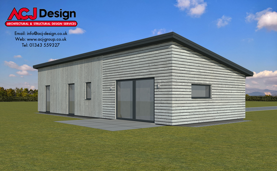 70m2 - Balta Rear Elevation