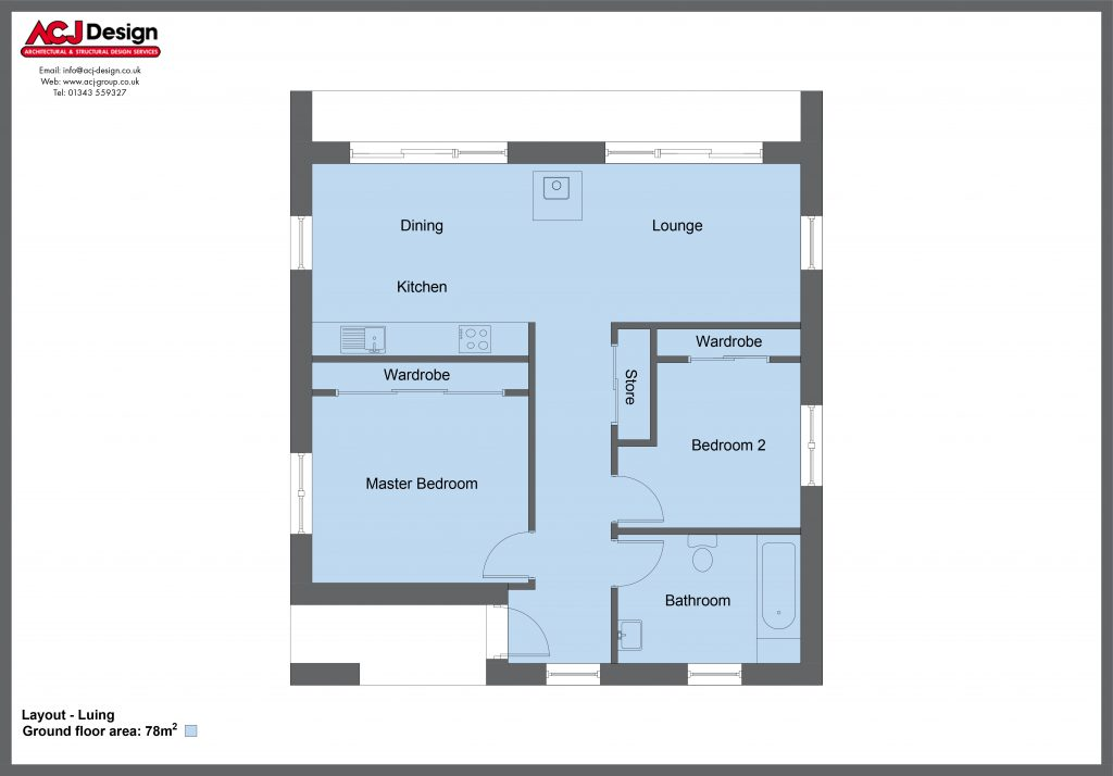 78m2 - Luing Floor Plan