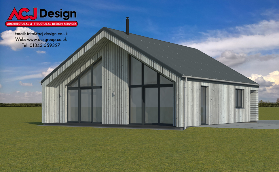 78m2 - Luing Rear Elevation
