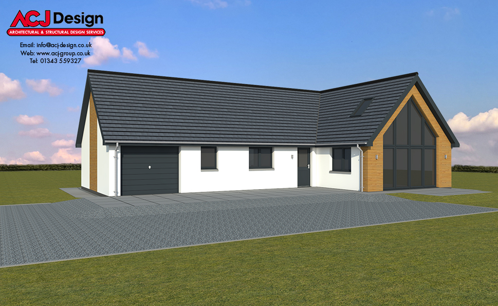 141m2 - Brodie - 3D Render Front Elevation
