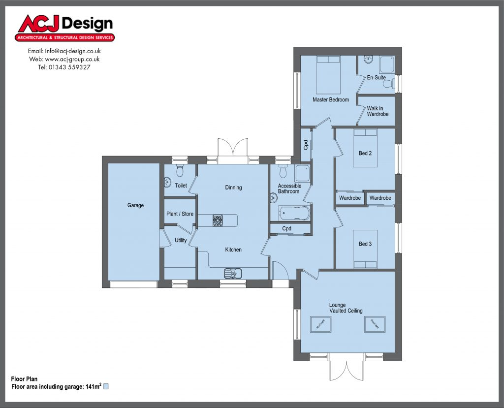 141m2 - Brodie - Floor Plan