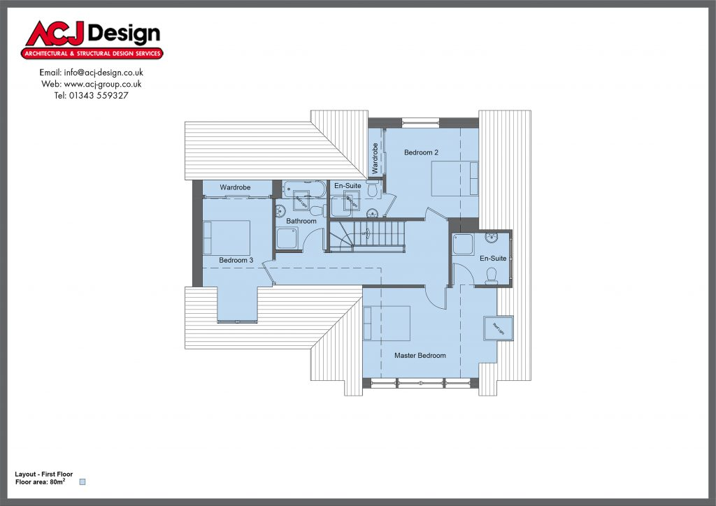 190m2 - Lesley - First Floor Plan