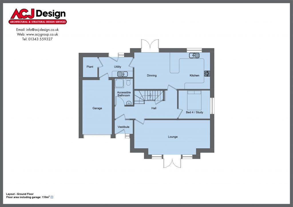 190m2 - Lesley - Ground Floor Plan
