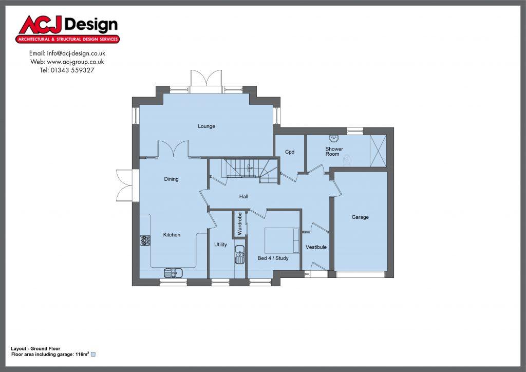 206m2 - Oliver - Ground Floor Plan